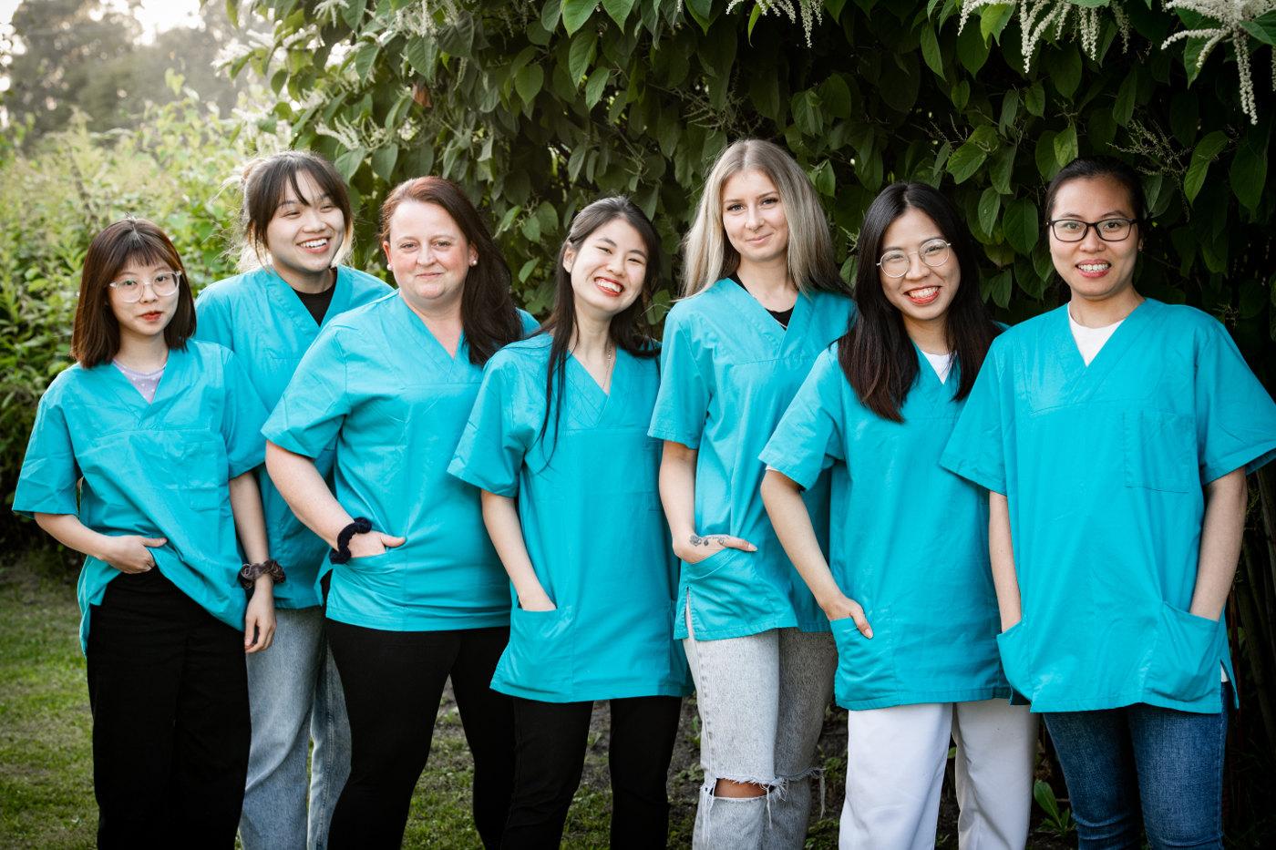 Azubis 2021 ECHO Pflegedienst Herten